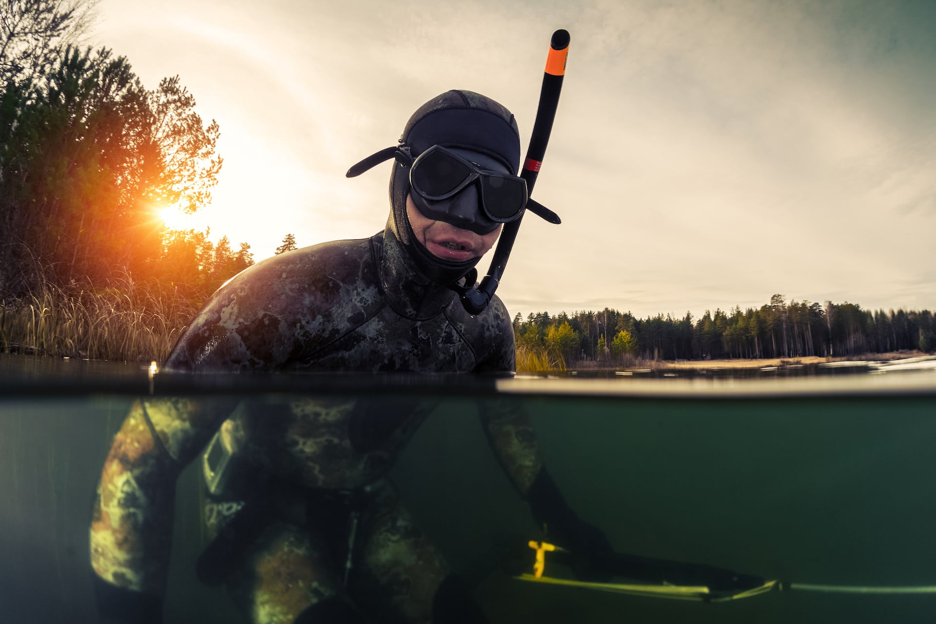 defogging spearfishing mask for better equipment