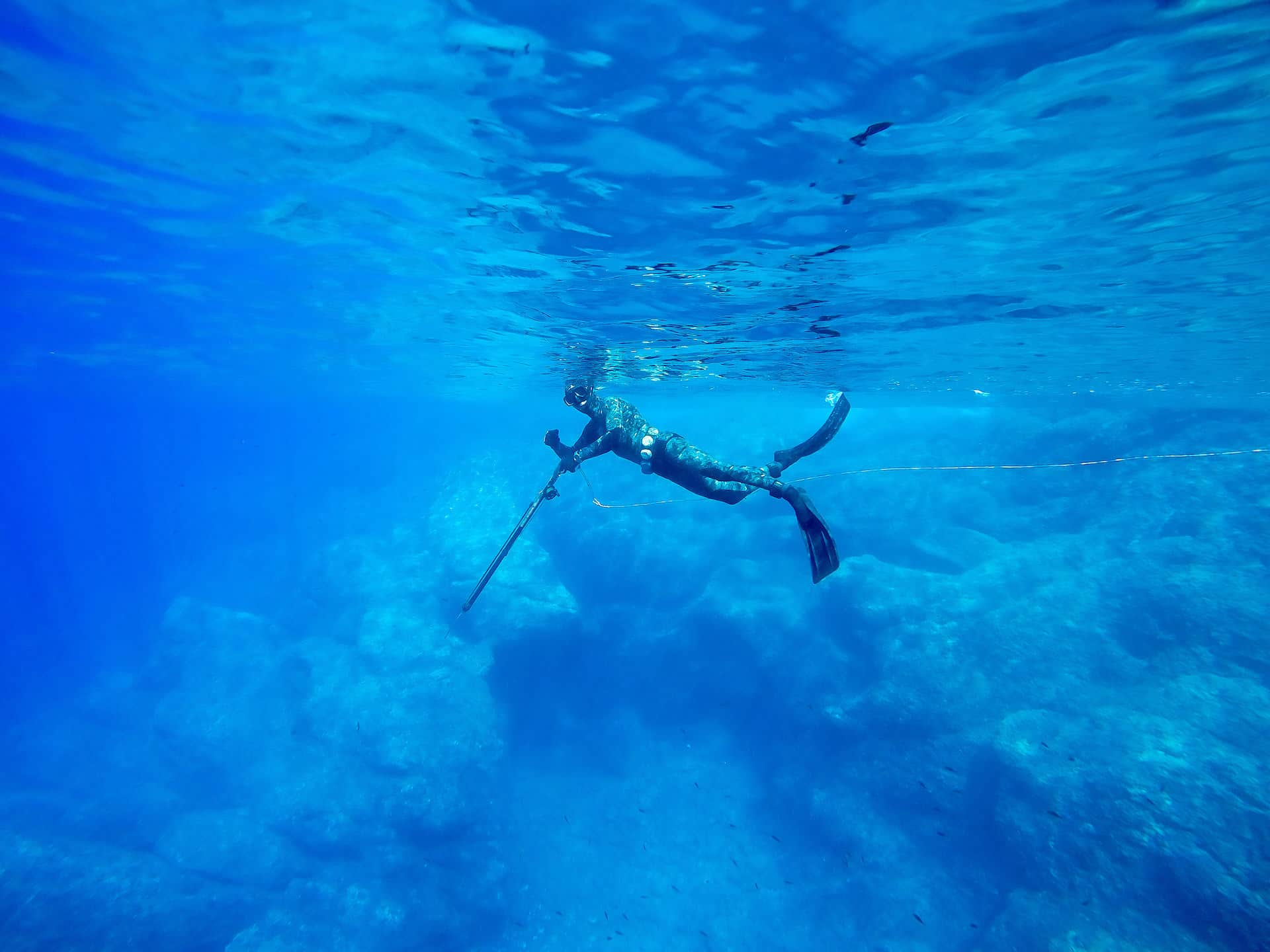 spearfishing with the best mask